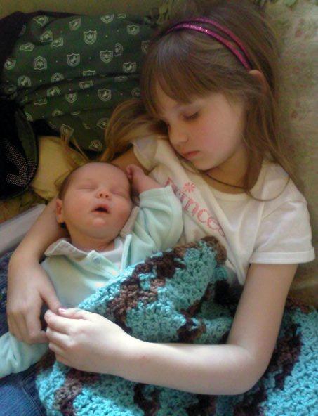 Niece Libby and nephew Ikey take a nap together