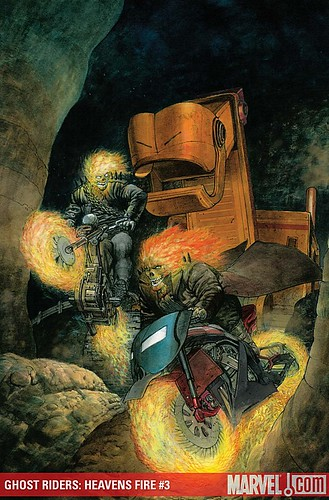 GHOST RIDERS: HEAVEN'S ON FIRE #3 cover by Das Pastoras