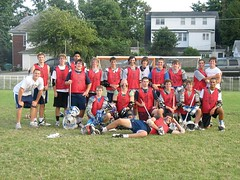 Andrew Roy and Gabe First Raised (back row, second and fourth from left) took part in a lacrosse tournament in Gettysburg, Pa. (Submitted photo)