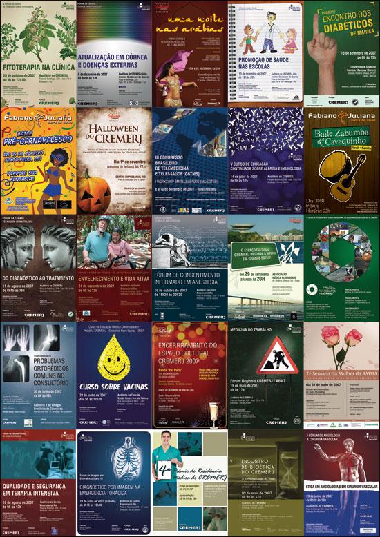 alguns cartazes