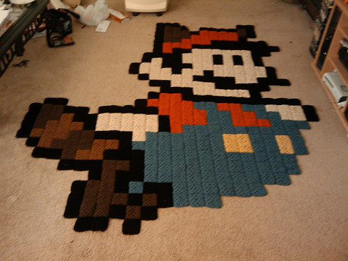 Super Mario Raccoon Rug Neatorama