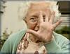 my role model (blue lilac) Tags: old grandma portrait woman eye model hand grandmother alt aunt age surprise oma frau gesture alter auge tante mimic role greataunt rolemodel altefrau gestik mimik vorbild überraschung grostante