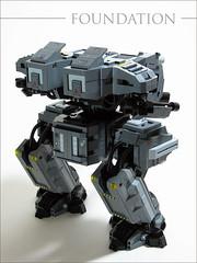 Foundation 2 (mondayn00dle) Tags: dawn lego military walker forge mecha mech brickworld