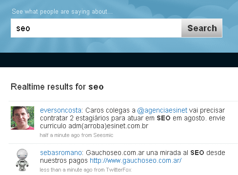 Twitter Search for SEO