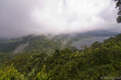 View of Lake Buyan and Lake Tamblingan