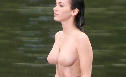 Megan Fox (Jeenifer body, on set detalle)