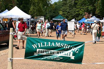 entrance to the Williamsburg Farmers' Market (by: Ron Miguel, creative commons license)