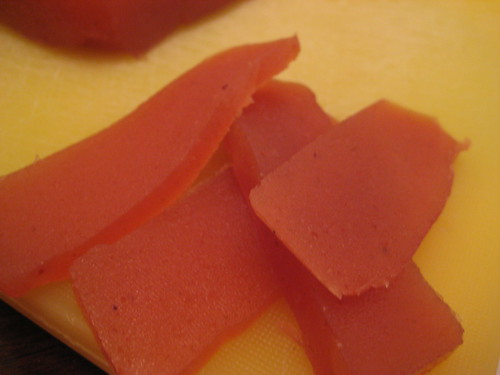 slices of quince paste