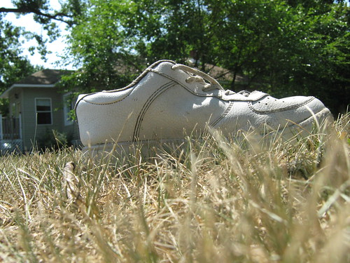 shoe in the grass