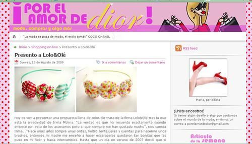 Por el amor de Dior! :-)