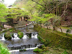 A River Runs Through It (Sanctu) Tags: water japan river evening waterfall kyoto hose clean wash worker cleaner cascade washing broom sweeper kibune sakyoku honshu kyotoprefecture sakyku
