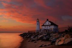 Cove Point Lighthouse (beforethecoffee) Tags: sky lighthouse sunrise nikon shoreline maryland explore frontpage hdr highdynamicrange d3 chesapeakebay photomatix covepoint beforethecoffee thepowerofnow