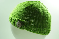 Children's Knit Hat (Button Tab)