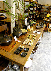 POTTERY SHOP (karaku*) Tags: table japanese tokyo pattern pottery settings dishware