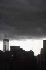 a spot of weather (jen (pluie latralement)) Tags: nyc storm clouds manhattan low midtown rollingin