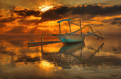 Hot morning (maninerror (hanif)) Tags: sky people bali sun seascape silhouette indonesia landscape explore hdr hdri hf gettyimage excellentcapture