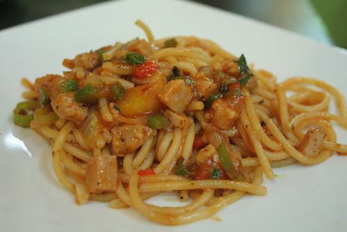 Pasta in tomato Sauce at Paul Calvin's Deli