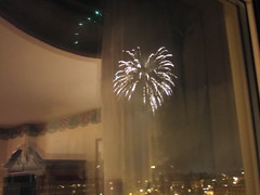 Fireworks from Hotel Utica