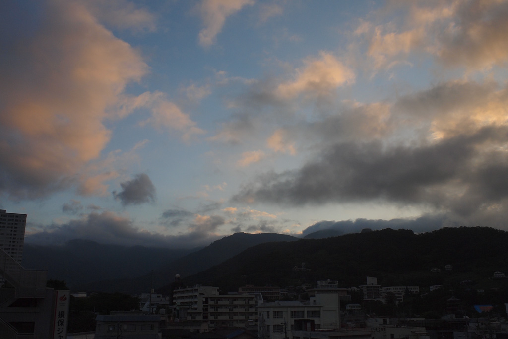 at predawn @Kofu City, after the earthquake's happening