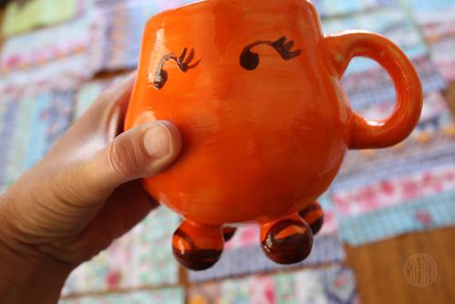 funny orange mug
