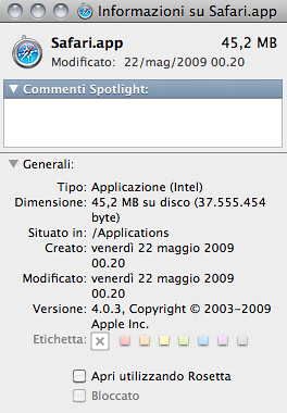 uscsl15 Safari on Core Duo