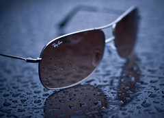 Nothing But The Rain (DodogoeSLR) Tags: brown macro car sunglasses rain fashion silver nikon style chrome micro bmw hood transparent nikkor vignette aviators rayban stylish 60mmf28 hungoverlikehell macromonday nothingbuttherain rainydaysmakemehappy wokemeuponsaturday rainedalldaysunday rainedalldaysaturdaytoo