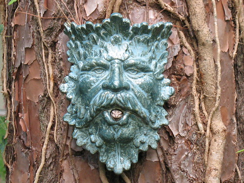 Green Man, with frog