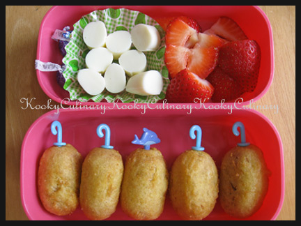 Bento #84 - It's raining corn dogs!