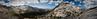 View from Vogelsang Pass (tfdavis) Tags: california usa mountain mountains nationalpark hiking pano yosemite photomerge yosemitenationalpark wilderness 2009 highsierra sierranevadamountains vogelsangpass bernicelake vogelsangpeak mountflorence highsierraloop