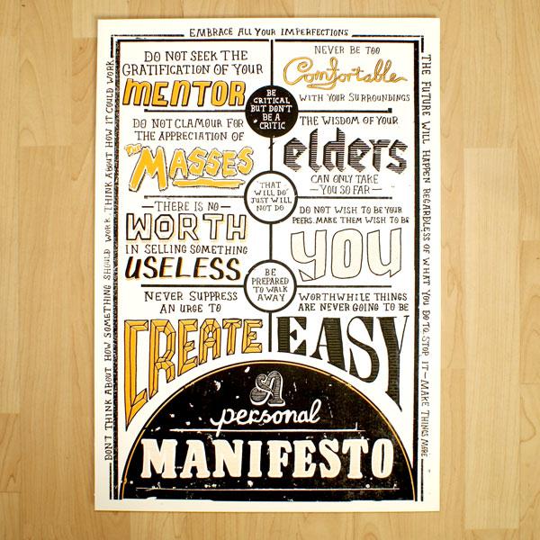 Mark Pavey's Personal Manifesto