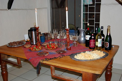 the wine and cheese spread