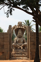 Ugra Narasimha, Hampi (Sonali Mangal) Tags: world india heritage history architecture site ruins indian unesco karnataka monuments carvings hampi vijayanagara