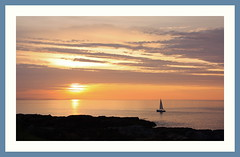 Moray Sunset (Mac ind g) Tags: sunset summer holiday walking landscape scotland boat sailing yacht framed lts moray findochty banffshire
