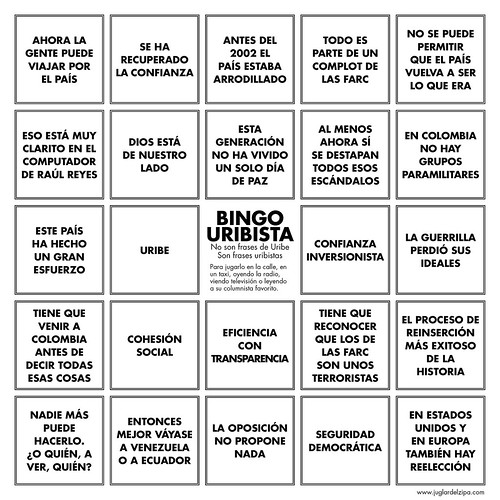 Bingo uribista