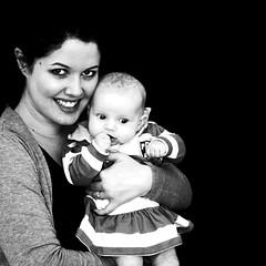 14  365 (AlicePalice) Tags: square blackwhite hug daughter mother backdrop 365 day14 lexie alicepalice