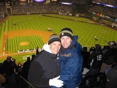 Mike and Kim (neighbors) at Game 3 NLDS