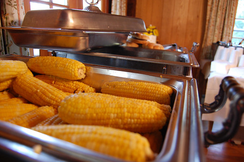 wedding buffet corn