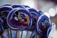grape lollipops (deb1edeb) Tags: california canon candy unitedstates disneyland group orangecounty anaheim 2009 themepark disneylandresort grouppool ef50mmf14usm eos40d disneysweettreats