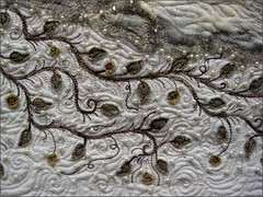 Detail of Fossily quilt