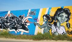 graff la rochelle mur aytre 2 (thierry llansades) Tags: girls streetart girl wall painting graffiti mural graf spray urbanart painter graff larochelle aerosol bombing filles beurs graffitis fresque beur peiture beurette beurettes aytre frenchgraff