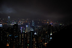Cloudy view (starsinmysocks) Tags: friends night hongkong view peak nightview  peaktram nikond40