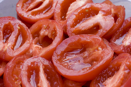 prepared plum tomatoes