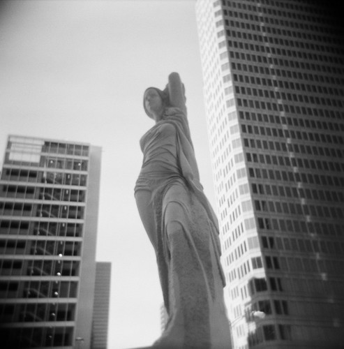 Statue & Skyscrapers