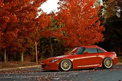 DSC_6632(P)(E) (Khris H.) Tags: autumn trees atlanta red white fall work honda georgia 50mm atl seasonal turbo import s2k lowered s2000 eastcoast offset ap2 advan d40 hondatech vsxx concaved apexin1