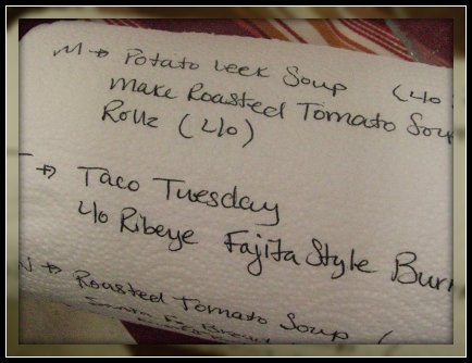 paper towel menu