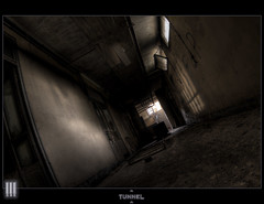 Tunnel (il COE) Tags: photoshop canon dark loneliness darkness decay corridor creepy fisheye abandon 16mm abandonment hdr coe decayed decadence buio decadente abbandono oscurit corridoio decadenza photomatix dismesso abbandoni