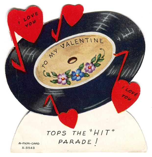 vintage valentine vinyl record