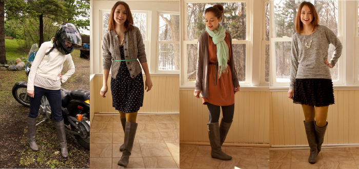 remix gray boots dash dot dotty style blog