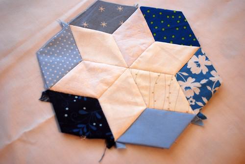 Paper Pieced Star Quilt- the very beginning