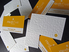Heidi 5 Studio Letterpress Cards